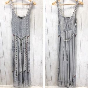 Magic Boho Embroidered Maxi Dress O/S ::MM13